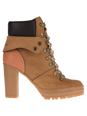 See by Chloé Lace-Up Padded Ankle Boots