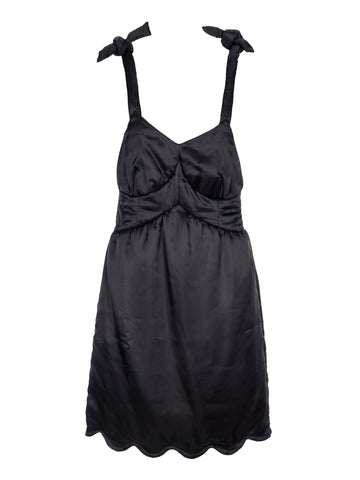 Mm6 Maison Margiela Scalloped Hem Dress