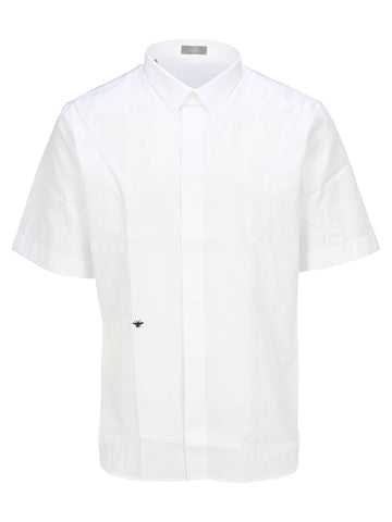 Dior Homme Bee Embroidered Short Sleeve Shirt