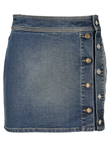 Givenchy Buttoned Mini Denim Skirt