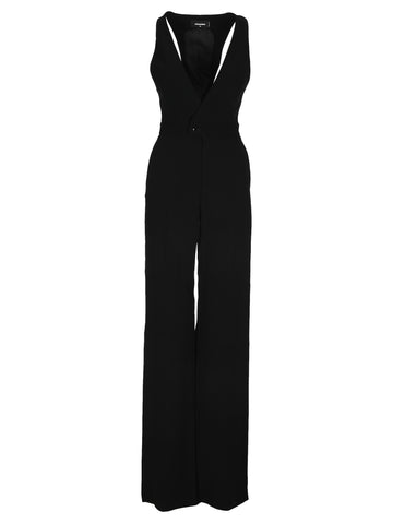 Dsquared2 Sleeveless V-Neck Jumpsuit