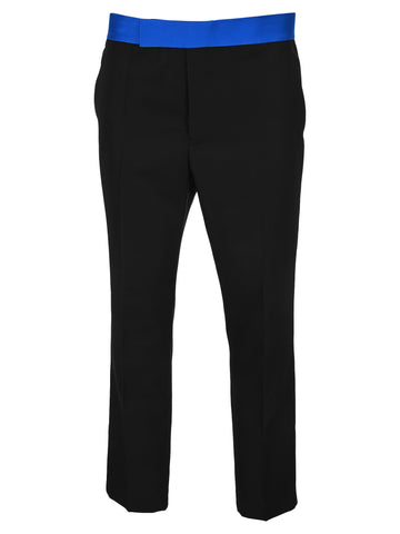 Haider Ackermann Contrasting Waistband Cropped Trousers