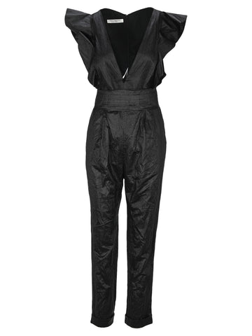 Ruffled Plunge Jumpsuit