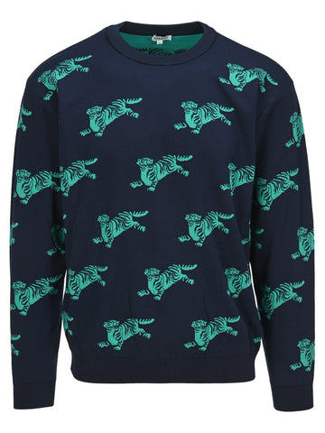 Kenzo All Over Jumping Tiger Jumper