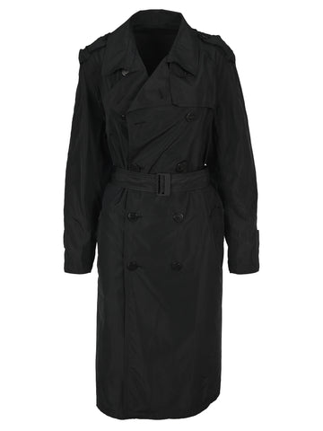 Neil Barrett Frayed Double-Breasted Trench Coat