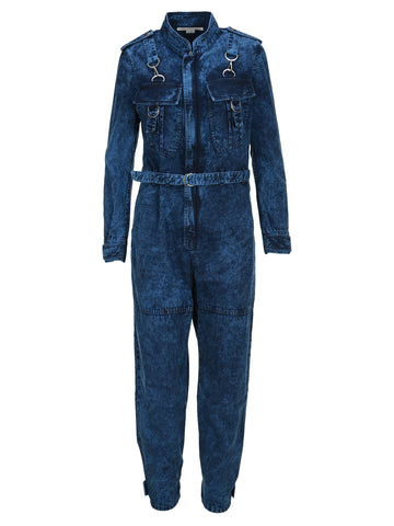 Stella McCartney Bleached Effect Denim Jumpsuit