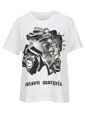 Mm6 Maison Margiela Floral Printed T-Shirt