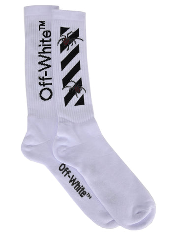 Off-White Logo Motif Long Socks