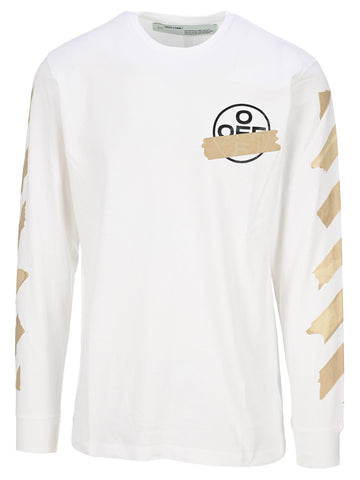 Off-White Logo Long Sleeve T-Shirt