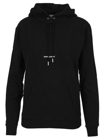 Saint Laurent Logo Embroidered Hoodie