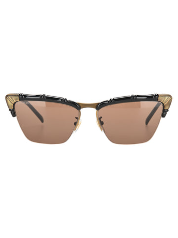 Gucci Eyewear Bamboo Effect Cat Eye Sunglasses