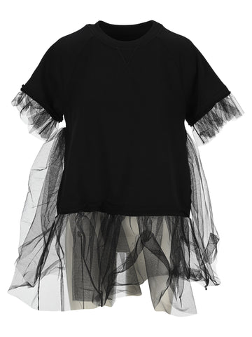 Mm6 Maison Margiela Tulle Detail T-Shirt