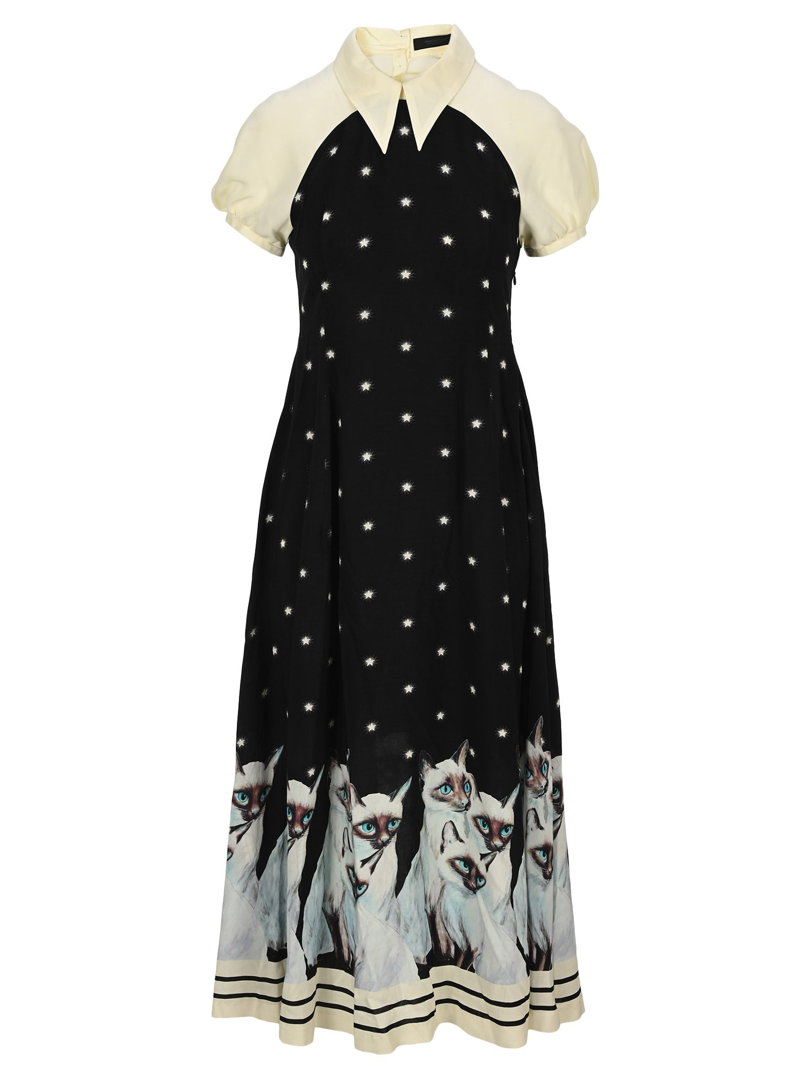 Undercover UNDERCOVER CAT PRINT DRESS