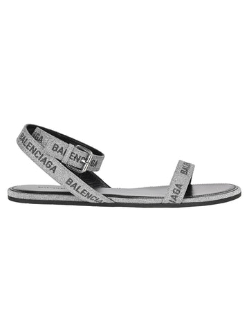 Balenciaga Logo Glittered Sandals