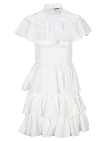 Prada Ruffled Tiered Dress