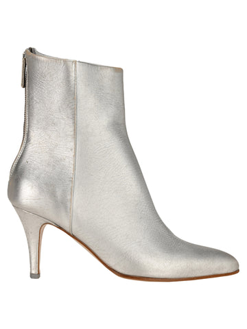 MM6 Maison Margiela Pointed Toe Metallic Boots