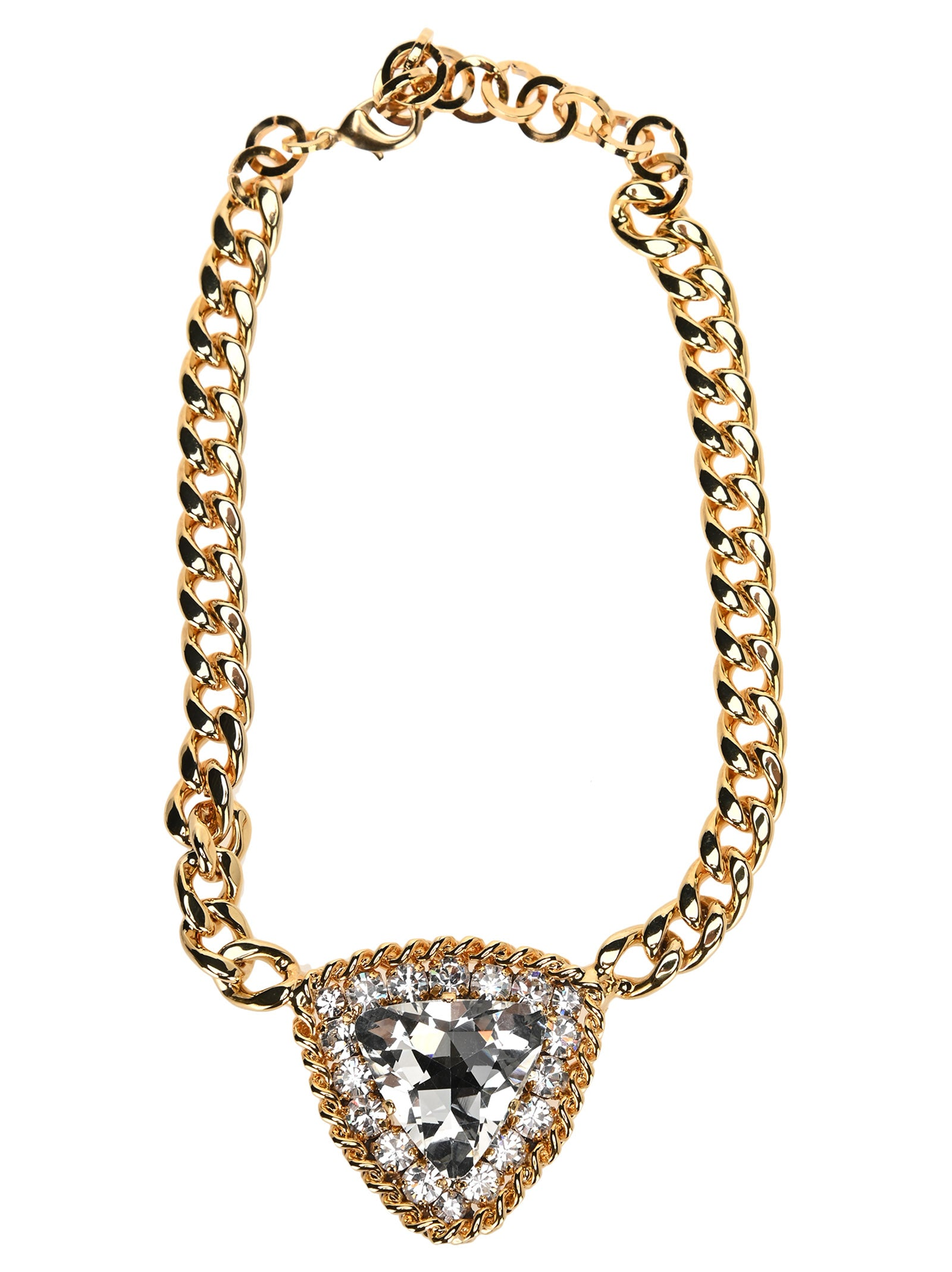 Alessandra Rich Necklaces ALESSANDRA RICH CRYSTAL PENDANT CHAIN NECKLACE