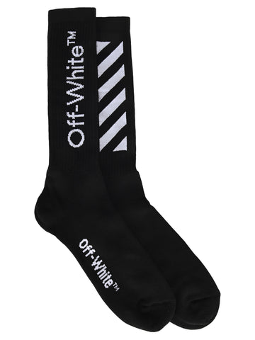 Off-White Diagonal Mid-Length Socks