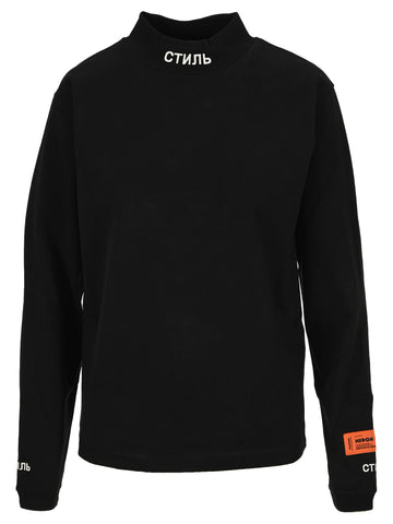 Heron Preston Mock Neck Long-Sleeve T-Shirt