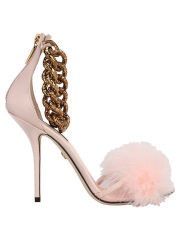 Dolce & Gabbana Feather Embellished Sandals