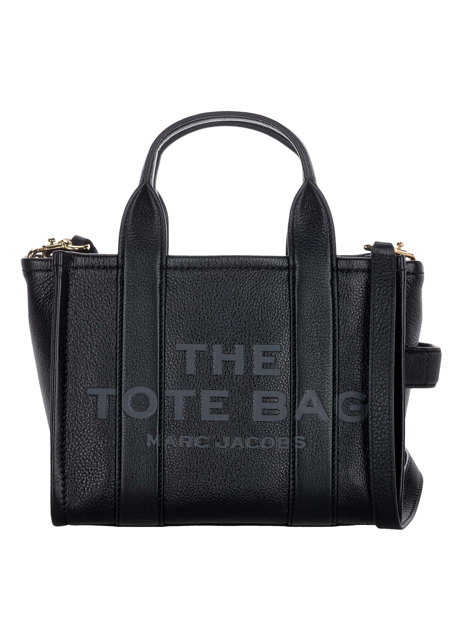 Marc Jacobs MARC JACOBS THE LEATHER MINI TRAVELER TOTE BAG