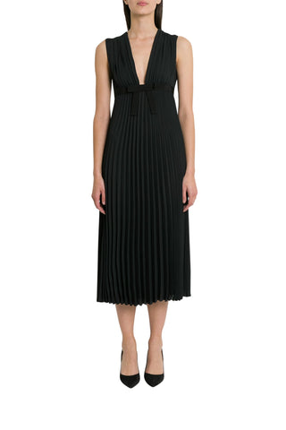 Red Valentino Pleated Sleeveless Dress