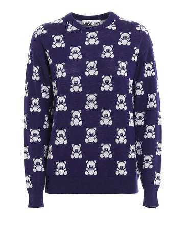 Moschino Teddy Bear Jacquard Sweater