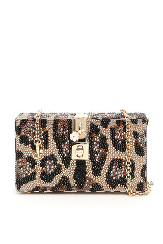 Dolce & Gabbana Animal Print Box Clutch bag
