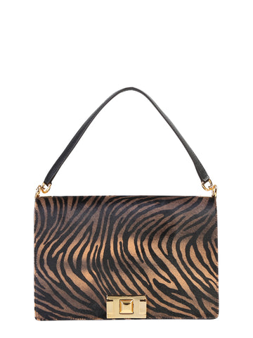 Furla Zebra Printed Shoulder Bag