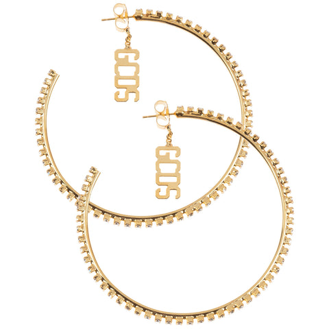 GCDS Embellished Hoop Earrings