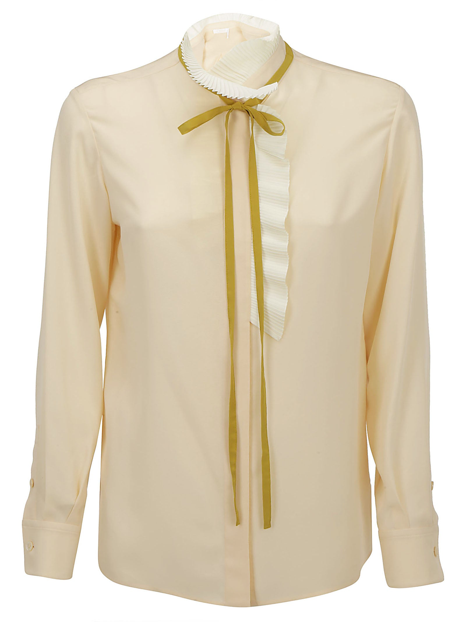 Chloé Tops CHLOÉ NECK TIE SHEER BLOUSE