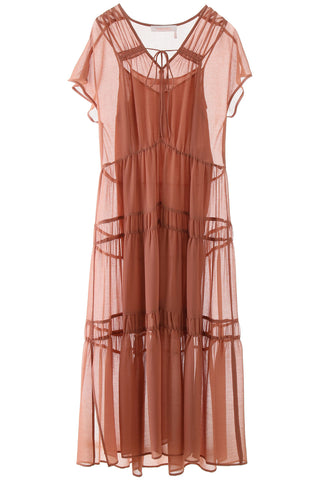 See By Chloé Tiered Sheer Dress