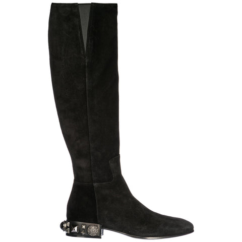 Dolce & Gabbana Studded Heel Knee High Boots