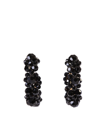 Simone Rocha Beaded Hoop Earrings