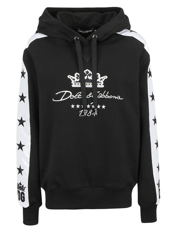 Dolce & Gabbana Embroidered Sleeve Detailed Hoodie