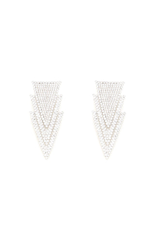 Alessandra Rich Triangle Earrings