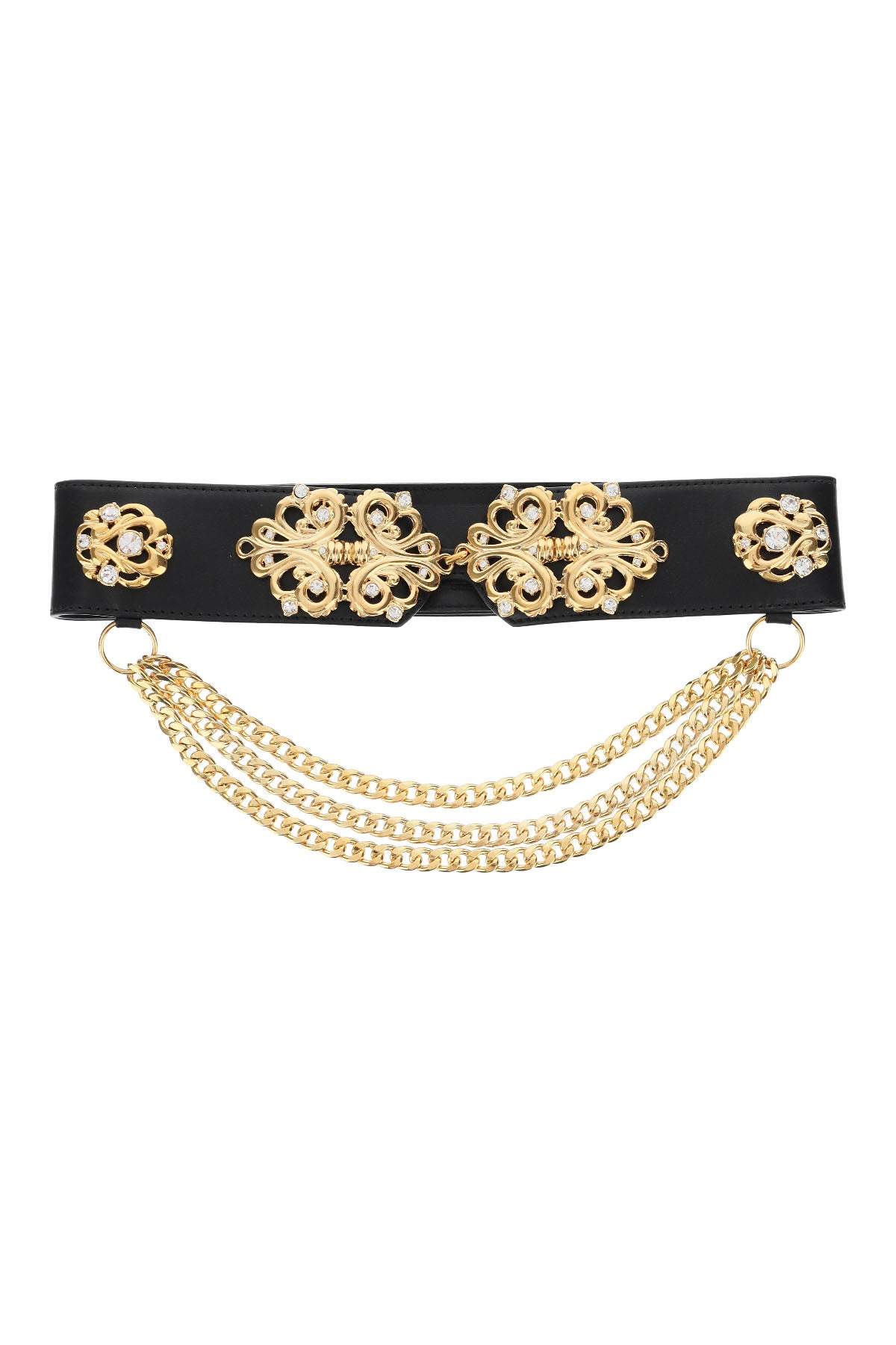 Alessandra Rich ALESSANDRA RICH CHAIN EMBELLISHED BELT