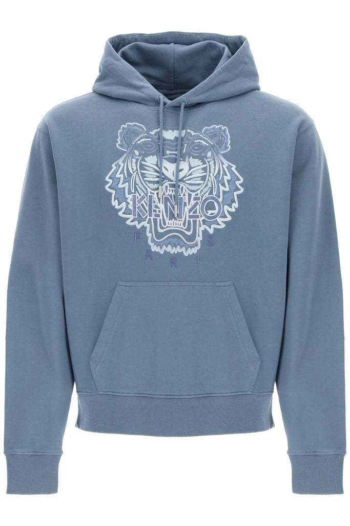 Kenzo Cottons KENZO TIGER EMBROIDERED HOODIE