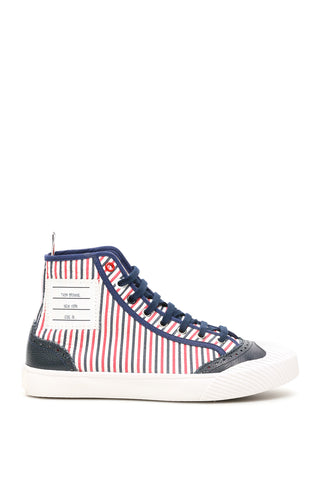Thom Browne 4-Bar High-Top Sneakers