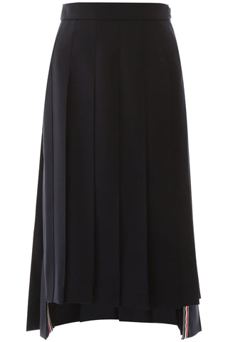 Thom Browne Pleated Asymmetric Skirt
