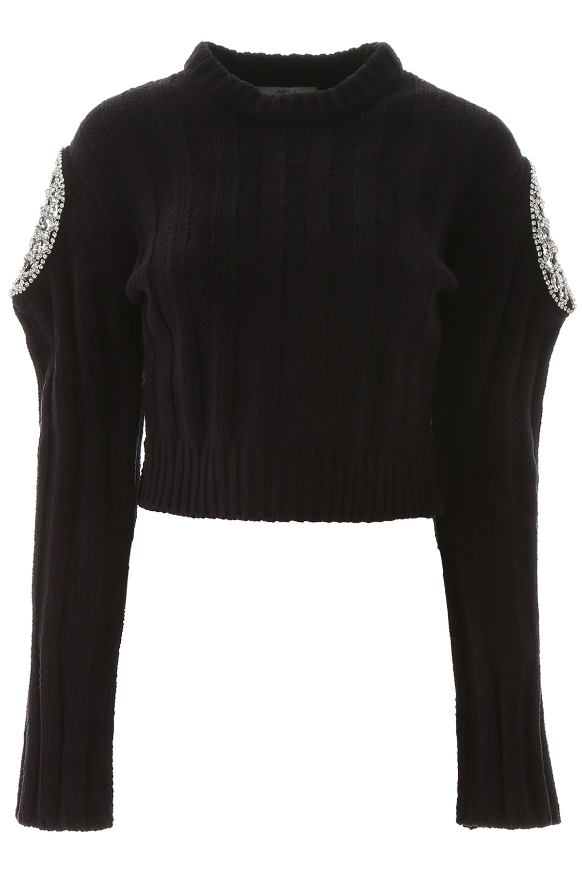 Area AREA EMBELLISHED CROPPED KNITTED SWEATER