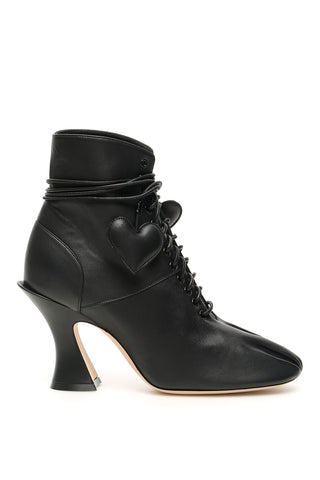 Lanvin Hearts Lace Up Boots
