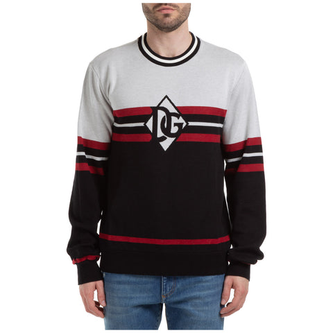 Dolce & Gabbana Logo Striped Sweatshirt