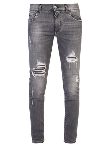 Dolce & Gabbana Distressed Effect Skinny Fit Jeans