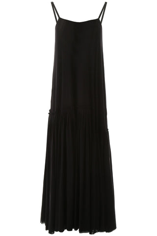 Jil Sander Pleated Hem Maxi Dress