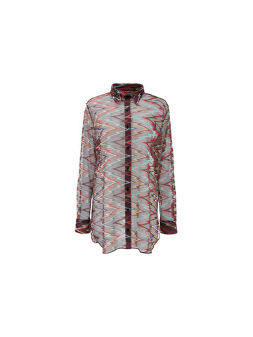 Missoni Sheer Zigzag Shirt