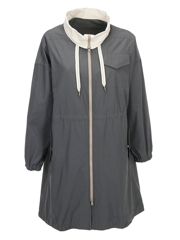Brunello Cucinelli Drawstring Rain Coat