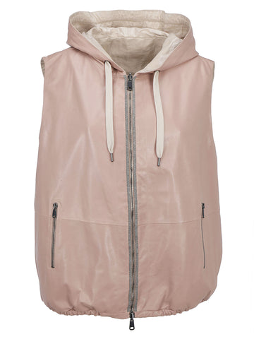 Brunello Cucinelli Reversible Hooded Gilet