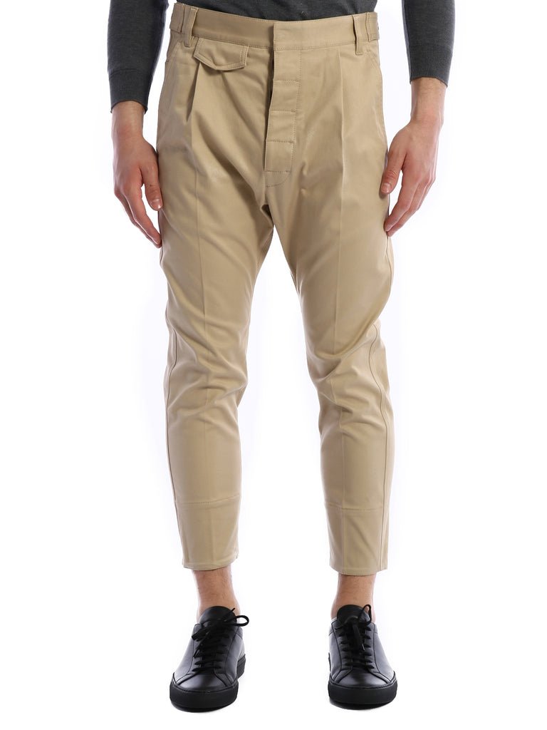 Dsquared2 Straight Leg Cropped Trousers In Neutrals