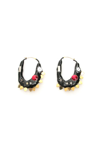 Marni Enamel Hoop Earrings